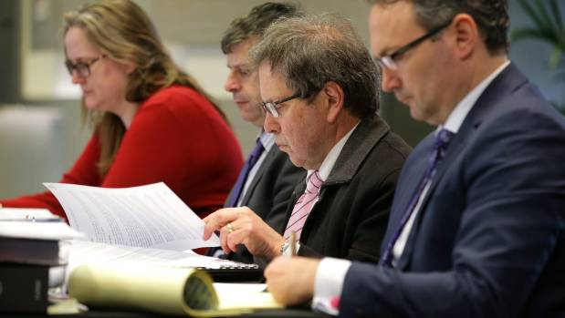 At the submissions hearing at the Kelvin Hotel, on Thursday afternoon, were, from left, ICC Stantec principal ...