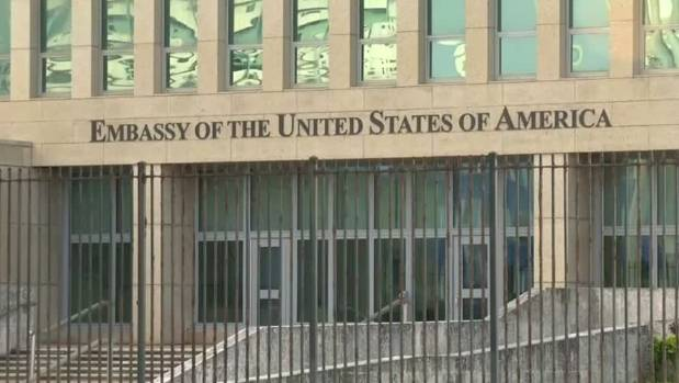 The US embassy in Cuba. A US official confirmed that the diplomats suffered hearing damage and neurological symptoms ...