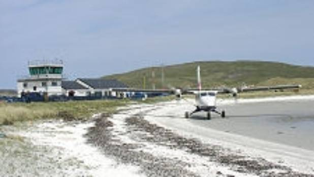 Barra airport - aka the beach.