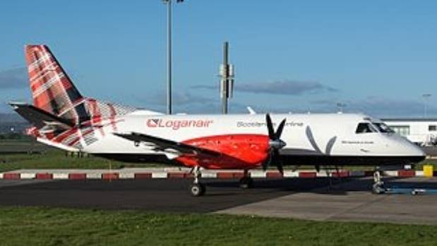 A Loganair plane in its spiffy new livery.