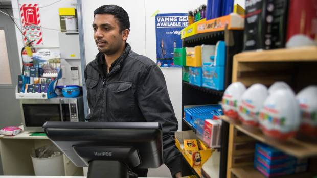Harinath Munjala, manager of the Worcester Discount Dairy in Christchurch had around $1000 worth of cigarettes stole in ...