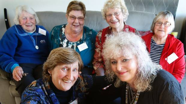 Celebrating their first name are South Canterbury Shirley group members (back, from left) Shirley Hunter, Shirley ...
