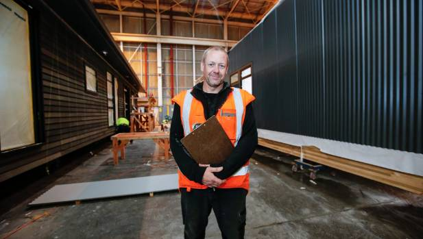 Construction manager Scott Jones oversees the build of six homes a month at the Tretham factory.