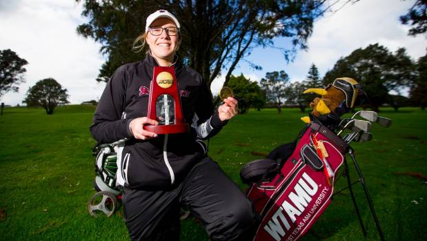 Holly Winter picked up some awards in her first year with the West Texas A&M golfing team.