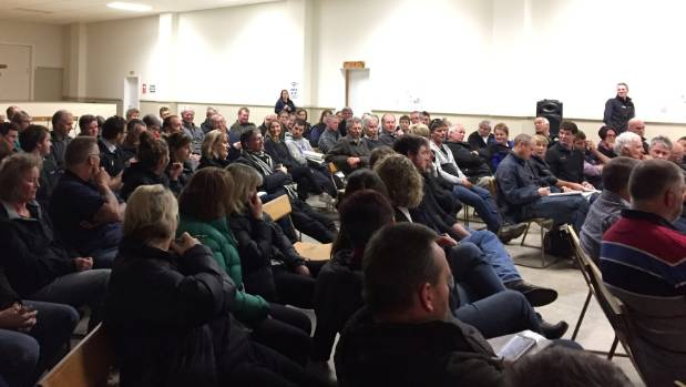About 100 people attended the talk about Mycoplasma bovis in Waimate on Thursday night.