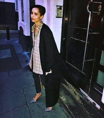 ZOE KRAVITZ: No-one said being a fashionista was easy. Case in point: when you get your lovely long coat stuck in a ...