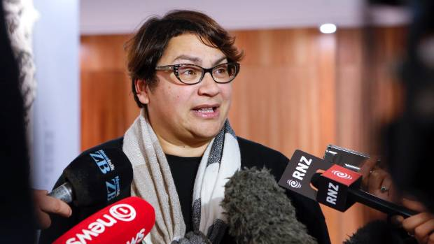 Former Greens co-leader Metiria Turei talks to media after meeting  with Work and Income investigators about her benefit ...