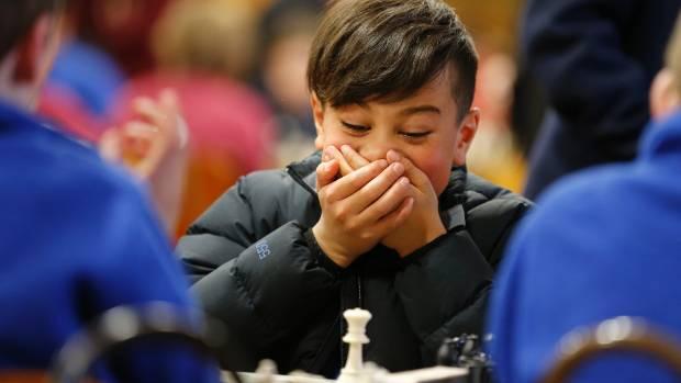 Fenwick School pupil Kiasah Lamont playing chess on Friday.