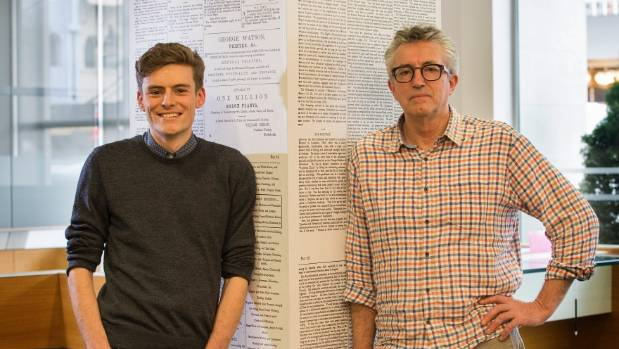 Martin van Beynen and his son Jack work together in Fairfax's Christchurch office.