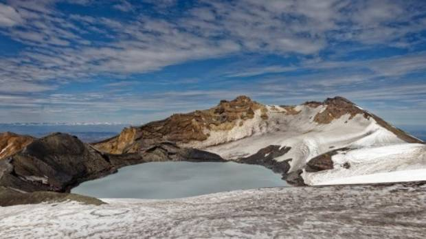 Crater Lake is warmed by thermal energy coming from Mt Ruapehu's magma chamber.