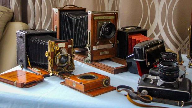 Mike McIntosh's collection is on display at the Cambridge Trash 'n' Treasure markets every month.