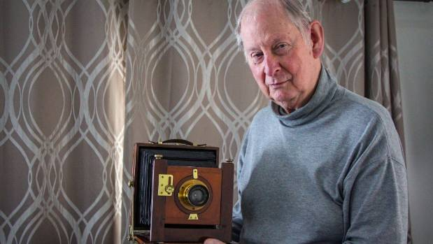 Mike McIntosh has been collecting cameras since he was 10 years old. Some of them date back to the 1880.