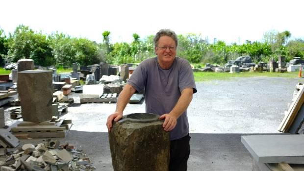 John Edgar, stone artist and president of the Waitakere Ranges Protection Society.