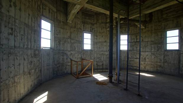 The inside of the Lake Alice water tower.