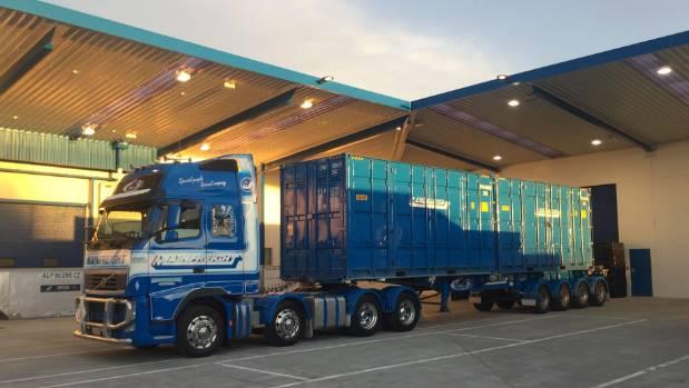 A Mainfreight truck at the new Christchurch Airport depot.