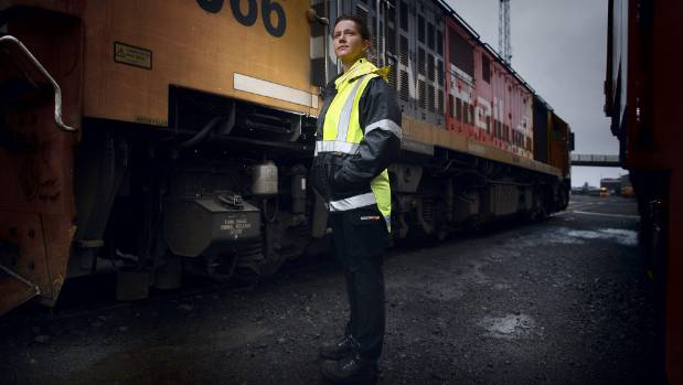 Yolanda Kruger is one of only a handful of female train drivers that cross the country back and forth daily.