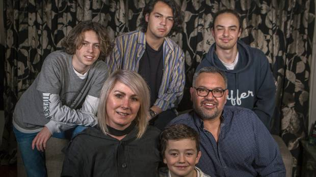 Shar and Ashley Sutherland Todd, with their sons, Fletcher, 20, rear left, Spencer, 18, Sebastien, 16, and Casper, 7.