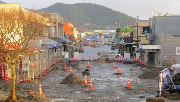 Work on the Greymouth town square and Tainui shared street project continues.