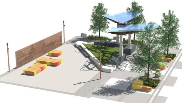 Designs for the new Greymouth town square and shared street.