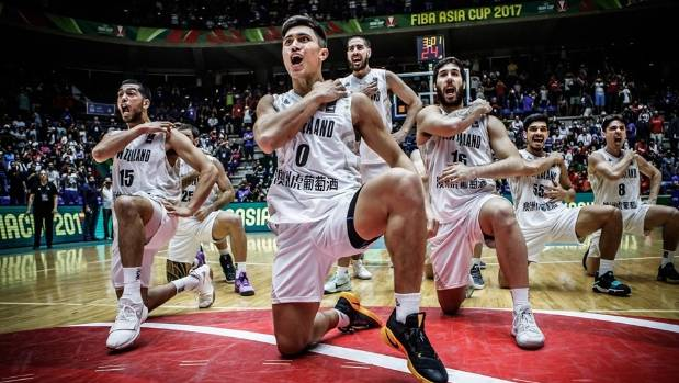 The Tall Blacks lay down their haka at the Fiba Asia Cup in Beirut.