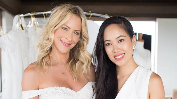 Former Sweet Valley High actress Brittnny Daniel in her custom-made gown by Auckland designer Trish Peng.