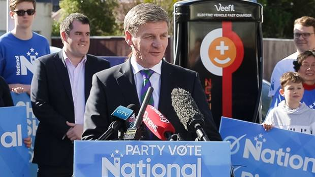 Bill English pledges to roll out electric cars