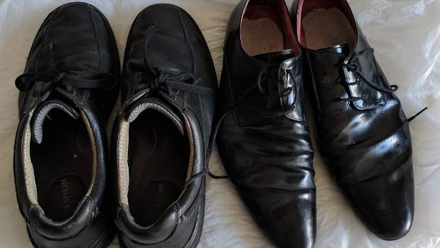 "The ""pre-marriage"" leather shoes up for grabs on Trade Me."