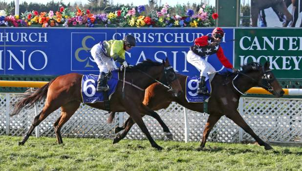 The Gordonian, ridden by Krishna Mudhoo, takes out the Winter Classic at Riccarton on Saturday.