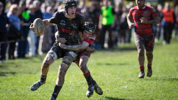 Lock Joe Sharland scored two tries in Waimea Combined's win over Mid Canterbury Combined.