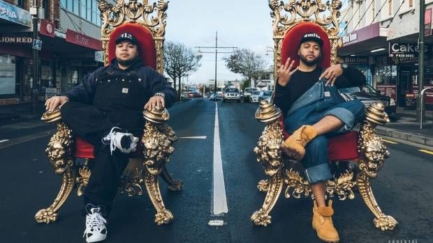 Onehunga rap crew SWIDT stepped up to accept the urban/hip hop award from Aaradhna.