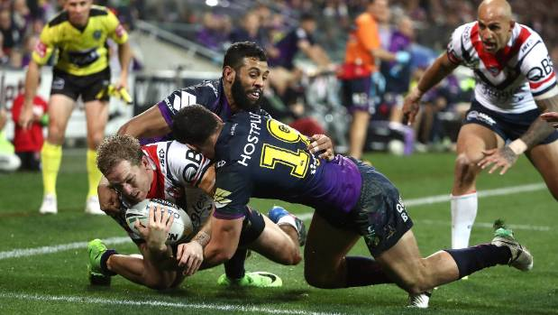 Storm edge Roosters on controversial penalty try