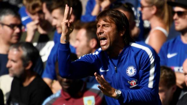 Chelsea manager Antonio Conte reacts after a contentious decision.
