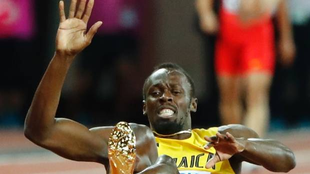 The moment Usain Bolt's athletics career ended.
