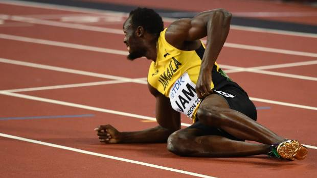 Bolt ended his career with 14 world championship medals.