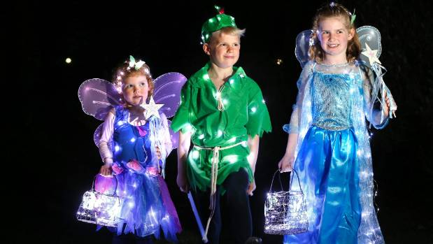 Breanna, 4, Toby,7, and Olivia O'Connor, 9, of Geraldine were three of 40 competitors in the Totally Locally Wearable ...