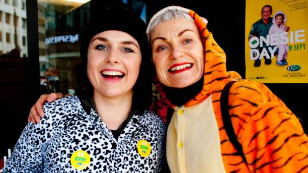 Jacinda Ashley-Jones and Diane Livingstone head out with a hiss and a roar at last year's appeal.