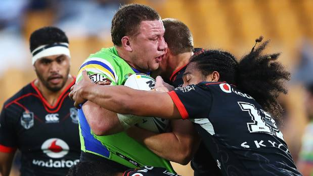 Shannon Boyd met some stern defence on this run, but the Raiders were able to keep their top eight hopes alive with a ...