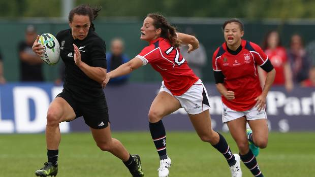 Portia Woodman scored tries in the seventh, 19th, 49th, 59th, 70th, 73rd, 79th and 81st minutes.