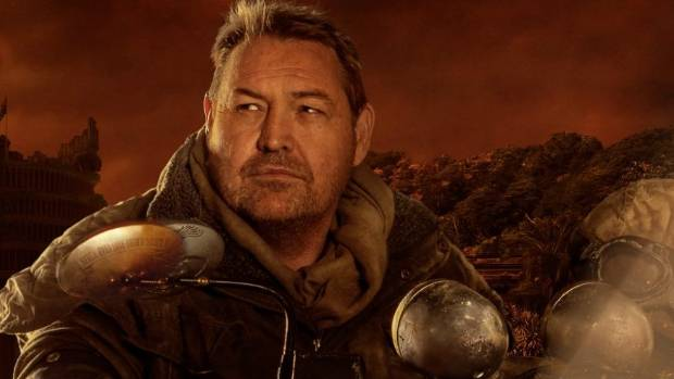 All Blacks coach Steve Hansen in the promotional poster for his 'Apocalypse Steve Hansen' campaign for Arnott's Biscuuits.