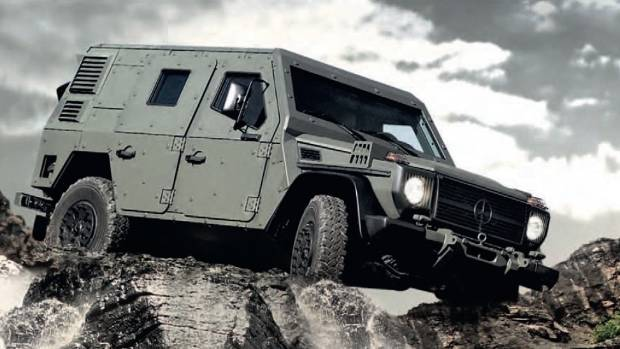 Light Armoured Patrol Vehicle (LAPV) is just the G-wagen for that dystopian future Hollywood's so keen on.