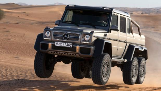 Why have four wheels when you can have six (and 6WD) with your G 63?