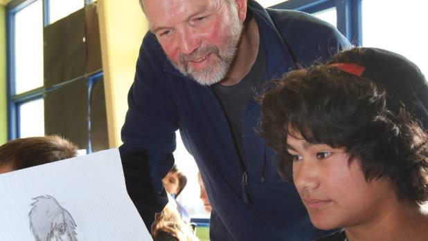 """Dunedin author and illustrator David Elliot """"has a clear wit that pervades his sketches"""", believed the judging panel for ..."""