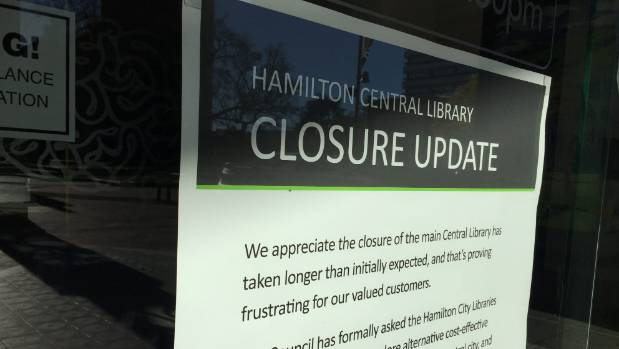 The library was closed in November 2016 due to seismic issues.