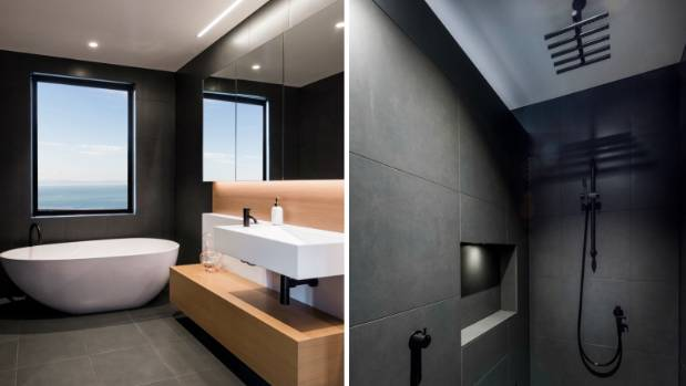 Other special features of the winning bathroom include contemporary black  tapware. Supreme bathroom award celebrates contemporary design   Stuff co nz