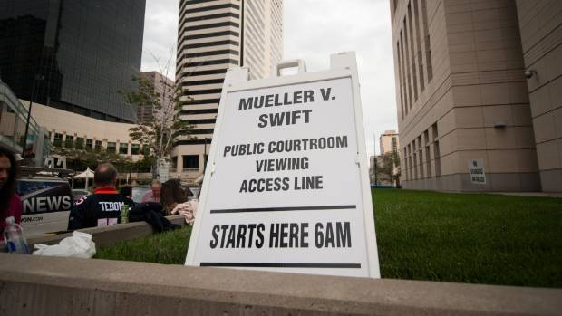Fans were able to watch the Taylor Swift v David Mueller hearing.