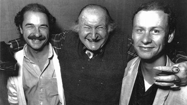 Director David Blyth (R) with The Munsters and Grampire star Al Lewis and Grampire producer Murray Newey (L).
