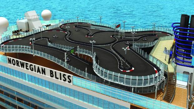 Cruisers will be able to put the pedal to the metal on the two-level electric-car race track.