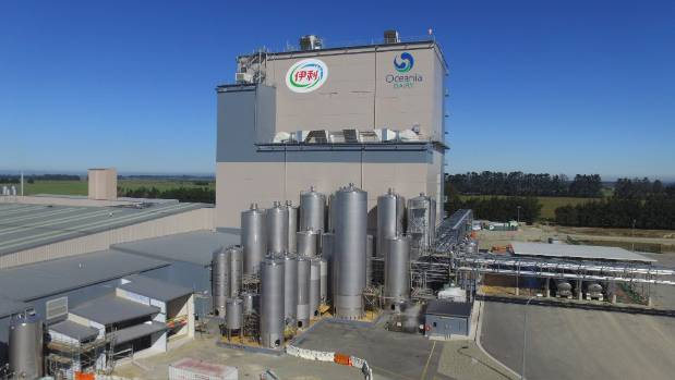 Oceania Dairy's factory at Glenavy.