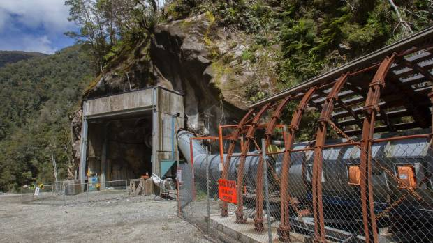 The portal of the Pike River mine.
