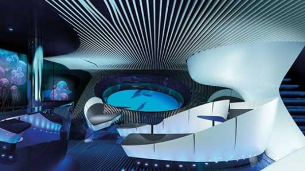 Three metres below water level, an underwater lounge will be placed inside a cruise ship's hull.